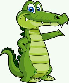 Alligator clipart mad. Tick tock the crocodile