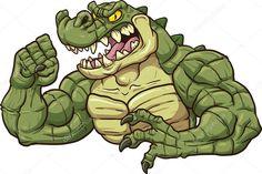 Mascot alligators art illustrations. Alligator clipart mad