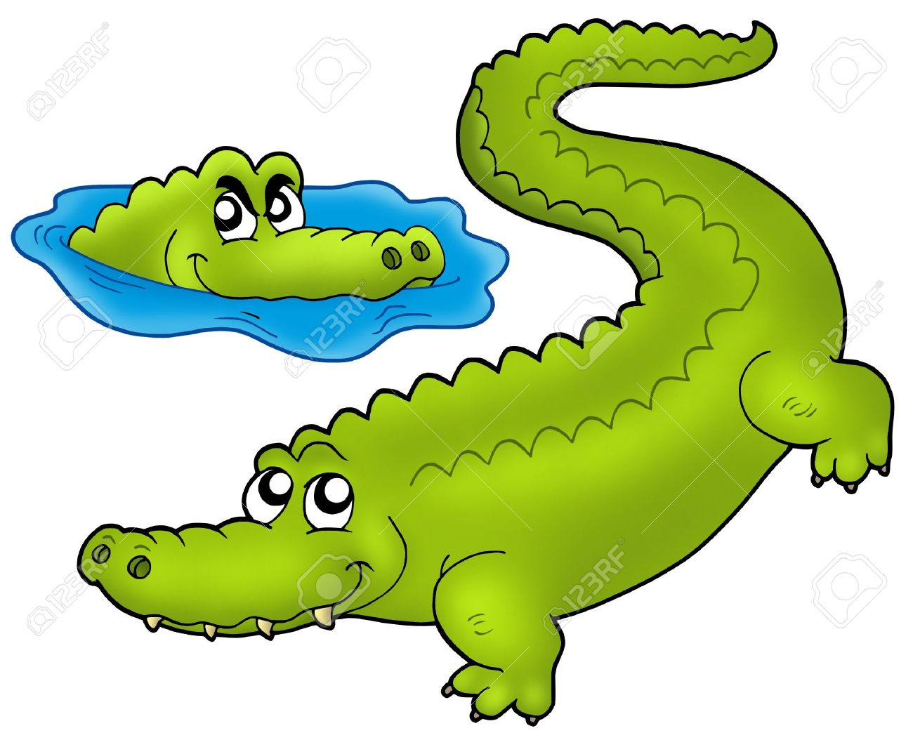 Crocodiles station . Crocodile clipart two