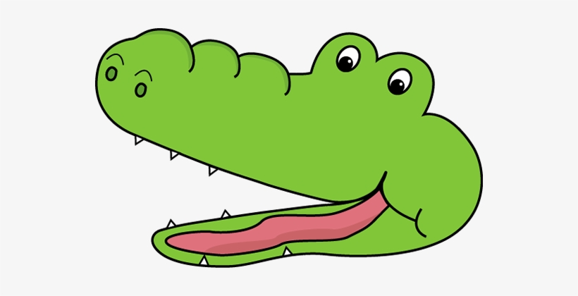Crocodile face clip art. Alligator clipart open mouth