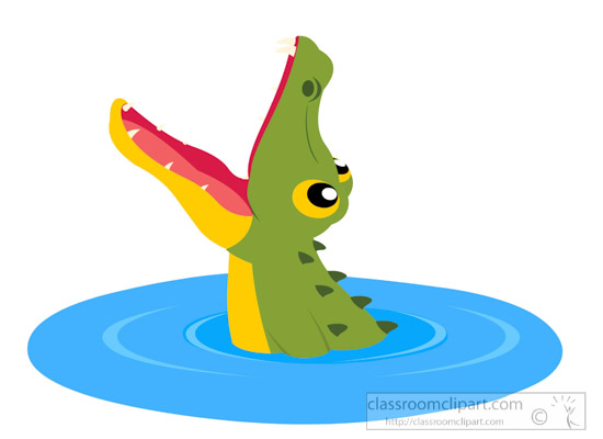 Animal jumping out of. Alligator clipart open mouth