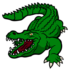 Alligator clipart open mouth. Fierce looking crocodile with