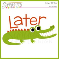 Preppy personal use instant. Alligator clipart printable
