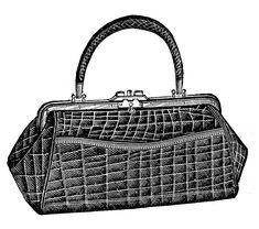 Alligator clipart purse. Clutch purses pinterest antique