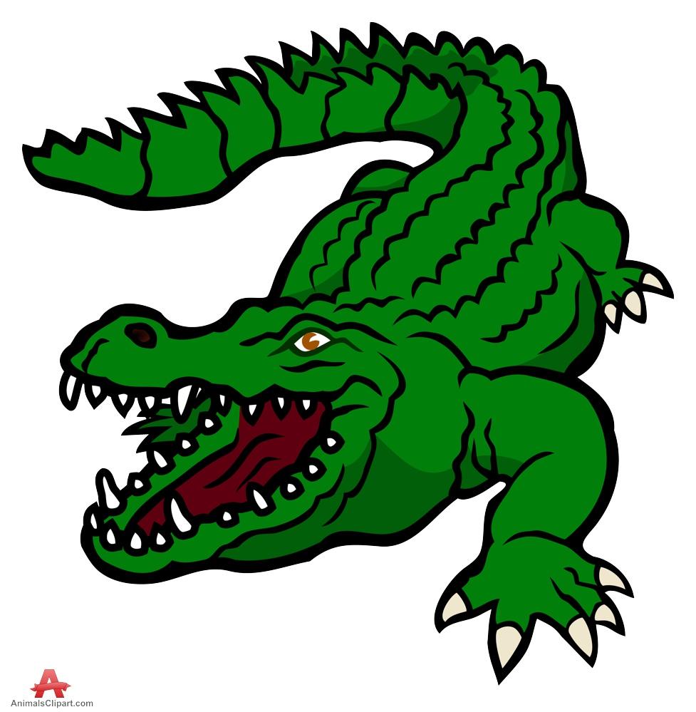 Crocodile clipart bad. Funny alligator clip art