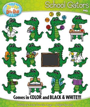 School characters zip a. Gator clipart teacher