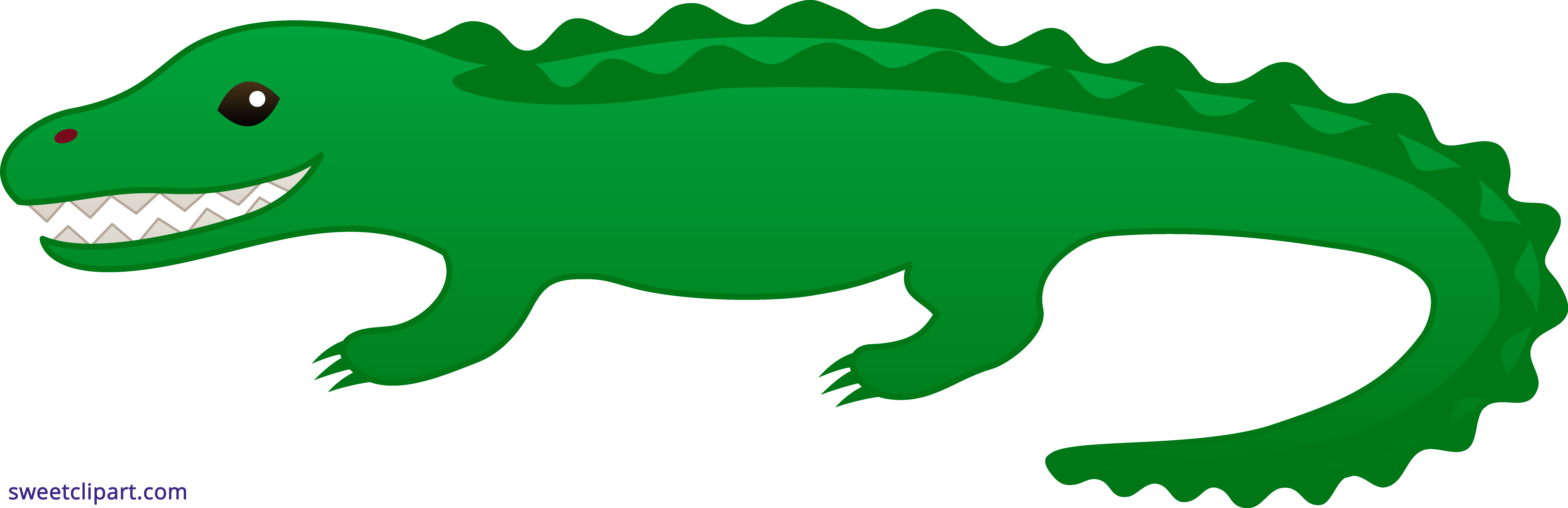 Sweet clip art. Girls clipart alligator