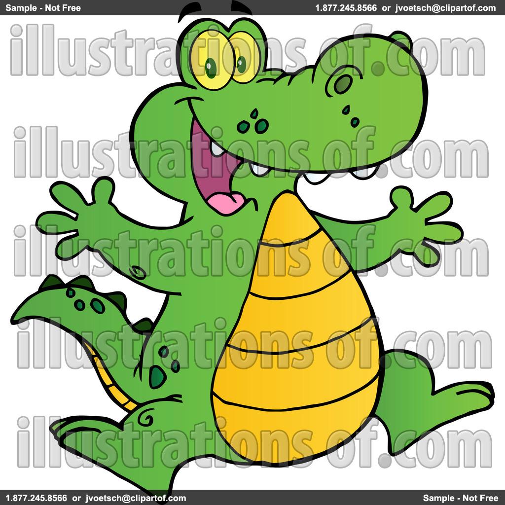 Cute crocodile black and. Alligator clipart swimming