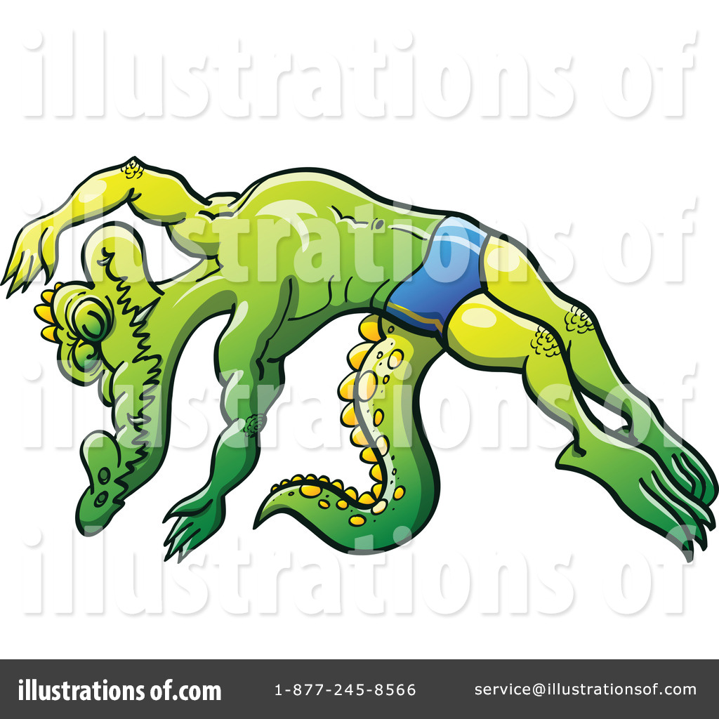 Illustration by zooco royaltyfree. Alligator clipart swimming