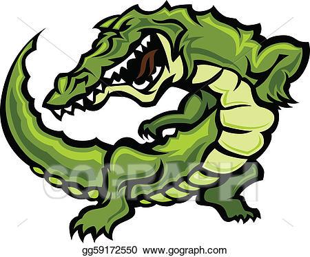 Vector art gator or. Crocodile clipart alligator mascot