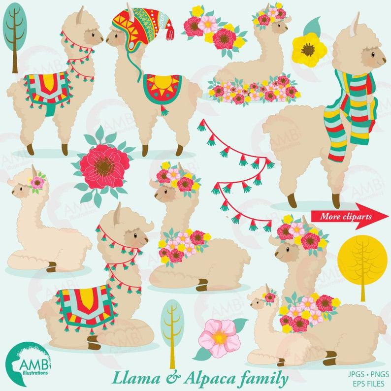 Llama clip art for. Alpaca clipart