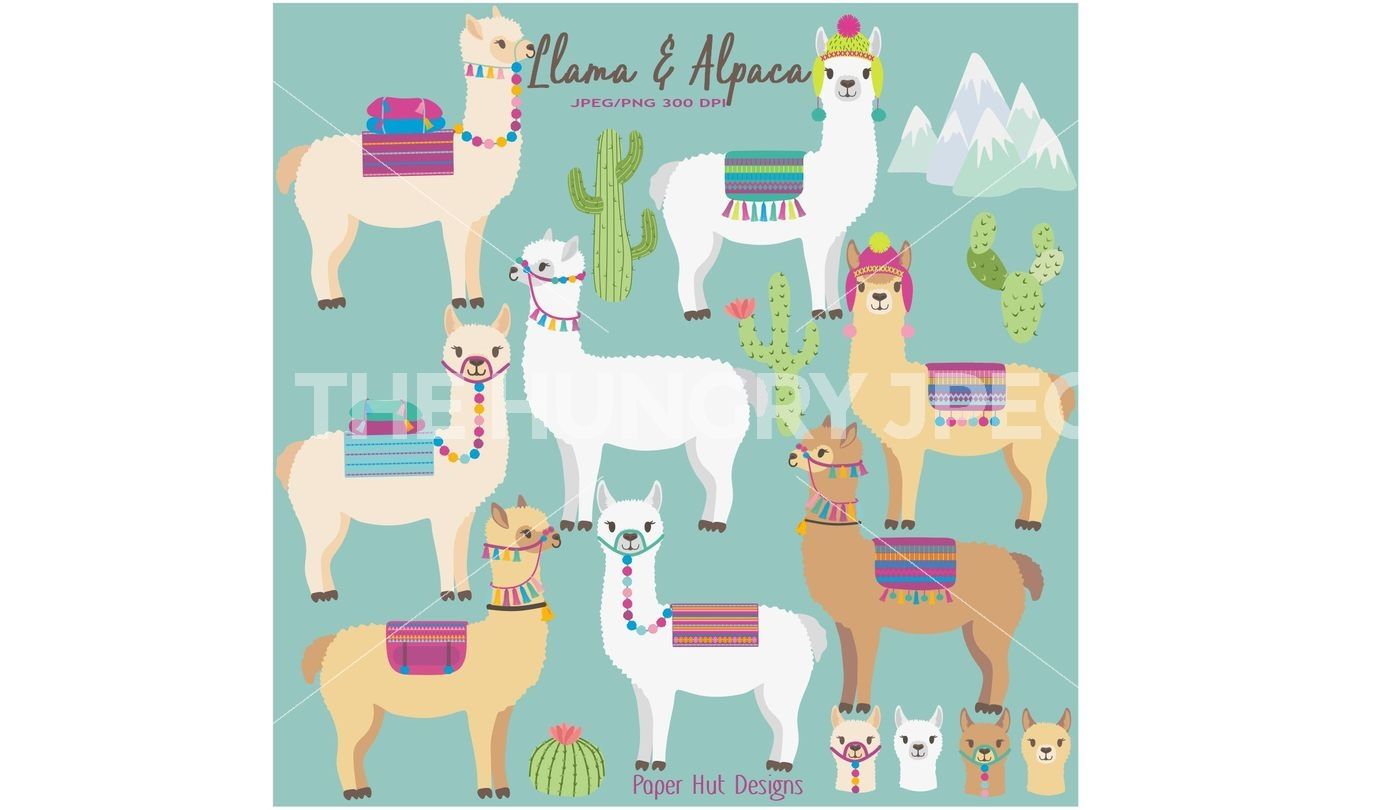 Alpaca clipart. Llama and by paperhutdesigns