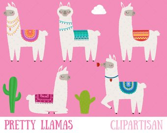 Etsy llama printable pretty. Alpaca clipart