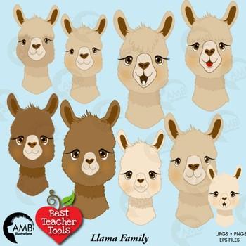 Alpaca clipart. Llama faces animal amb