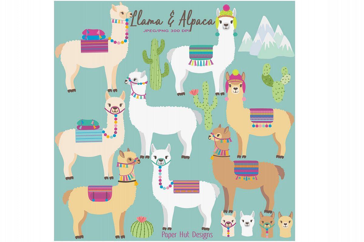 Llama and . Alpaca clipart