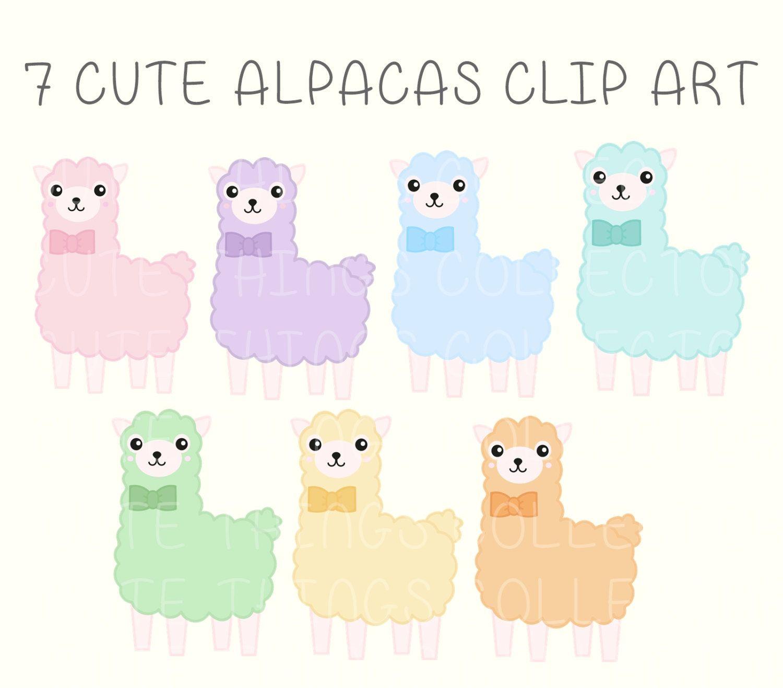 Alpaca clipart adorable. Cute transportation car truck