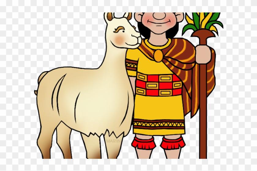 Alpaca clipart ancient inca. Llama cartoon mayan people