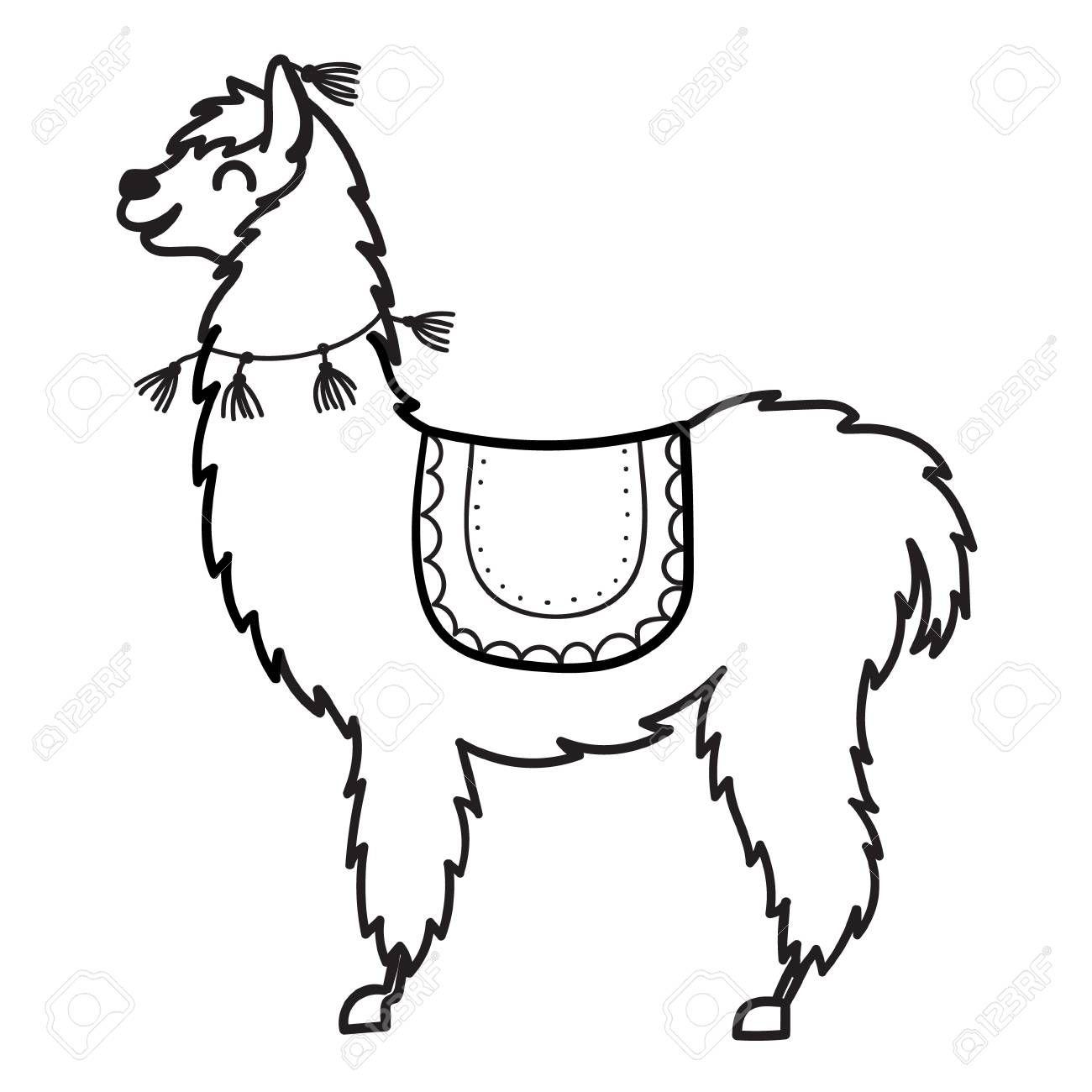 Alpaca clipart animal american. Stock vector art and