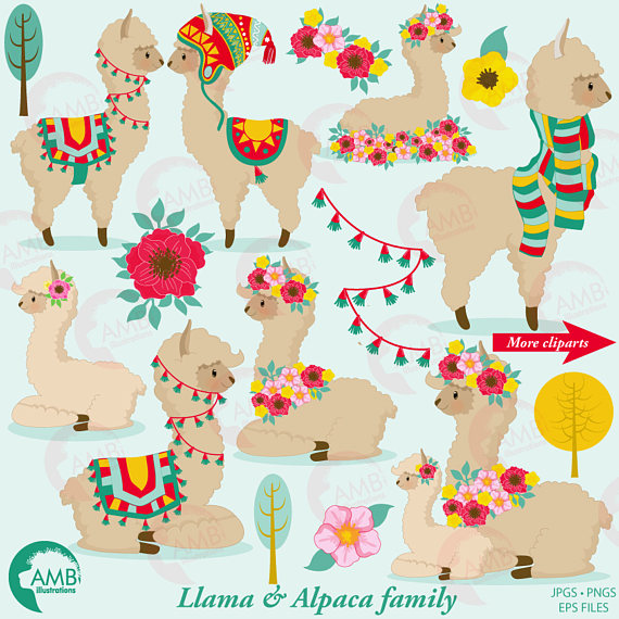 Clip art for . Alpaca clipart baby llama