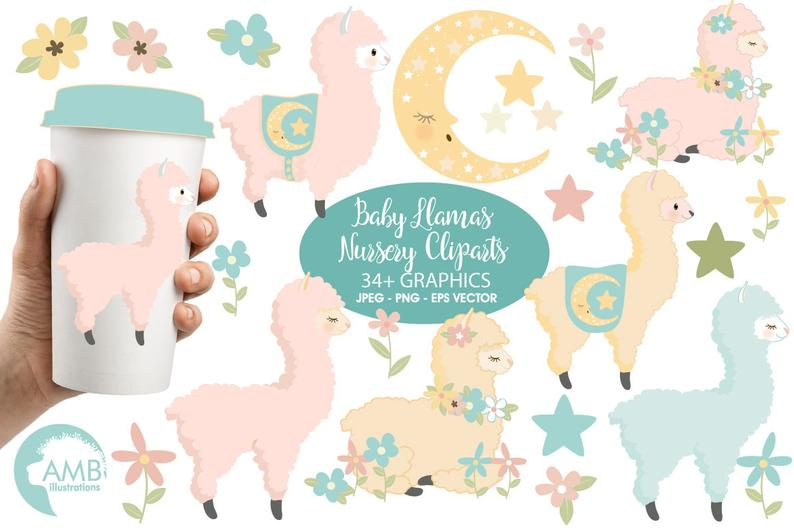 Clip art for scrapbooking. Alpaca clipart baby llama