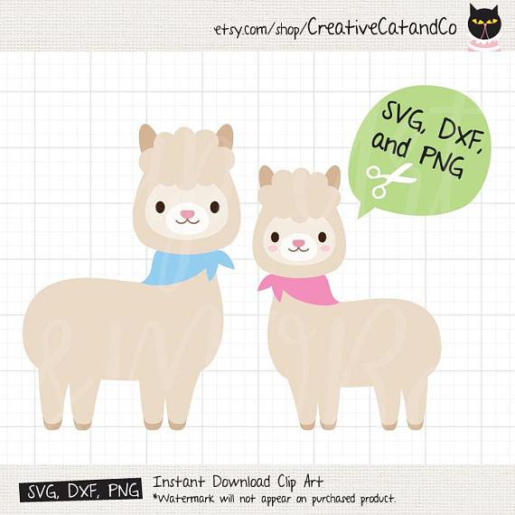 Svg files for cricut. Alpaca clipart baby llama