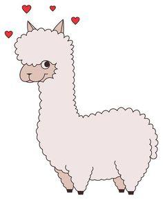 Alpaca clipart baby llama. Drawing coloring page alpacas
