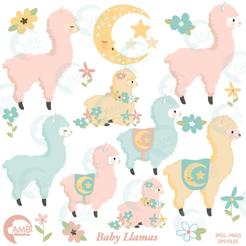 Alpaca clipart baby llama. Clip art for cupcake