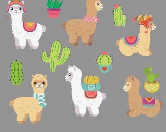 Etsy . Alpaca clipart clip art