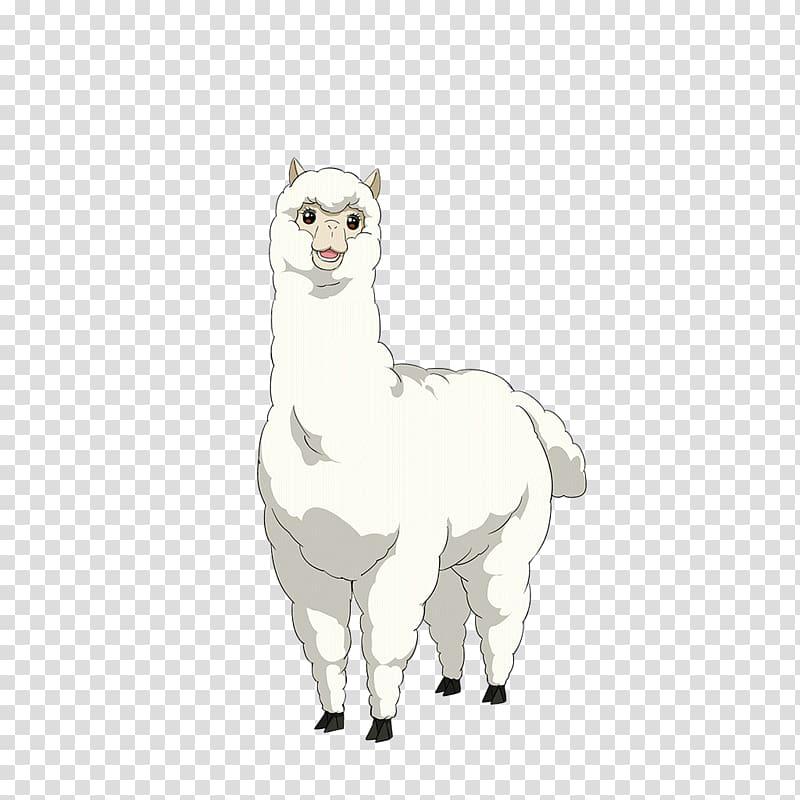 Brown llama camel drawing. Alpaca clipart cute anime