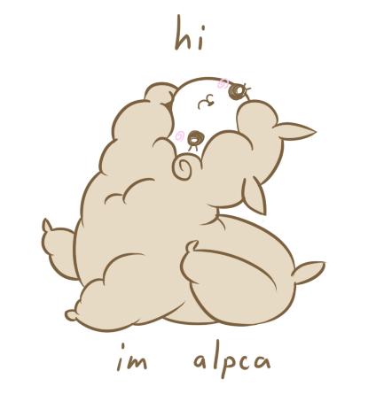 Alpaca clipart cute anime. Photo tumblr m mqcyg