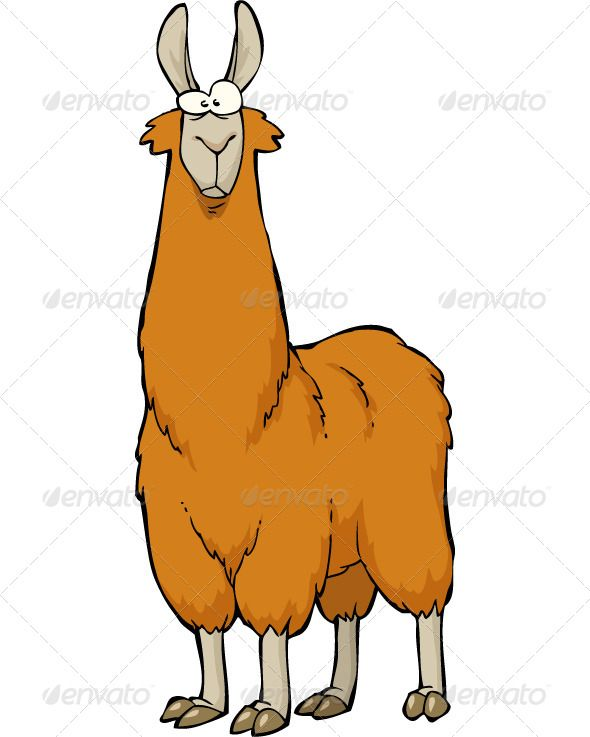 Alpaca clipart cute anime. Cartoon llama drawing at