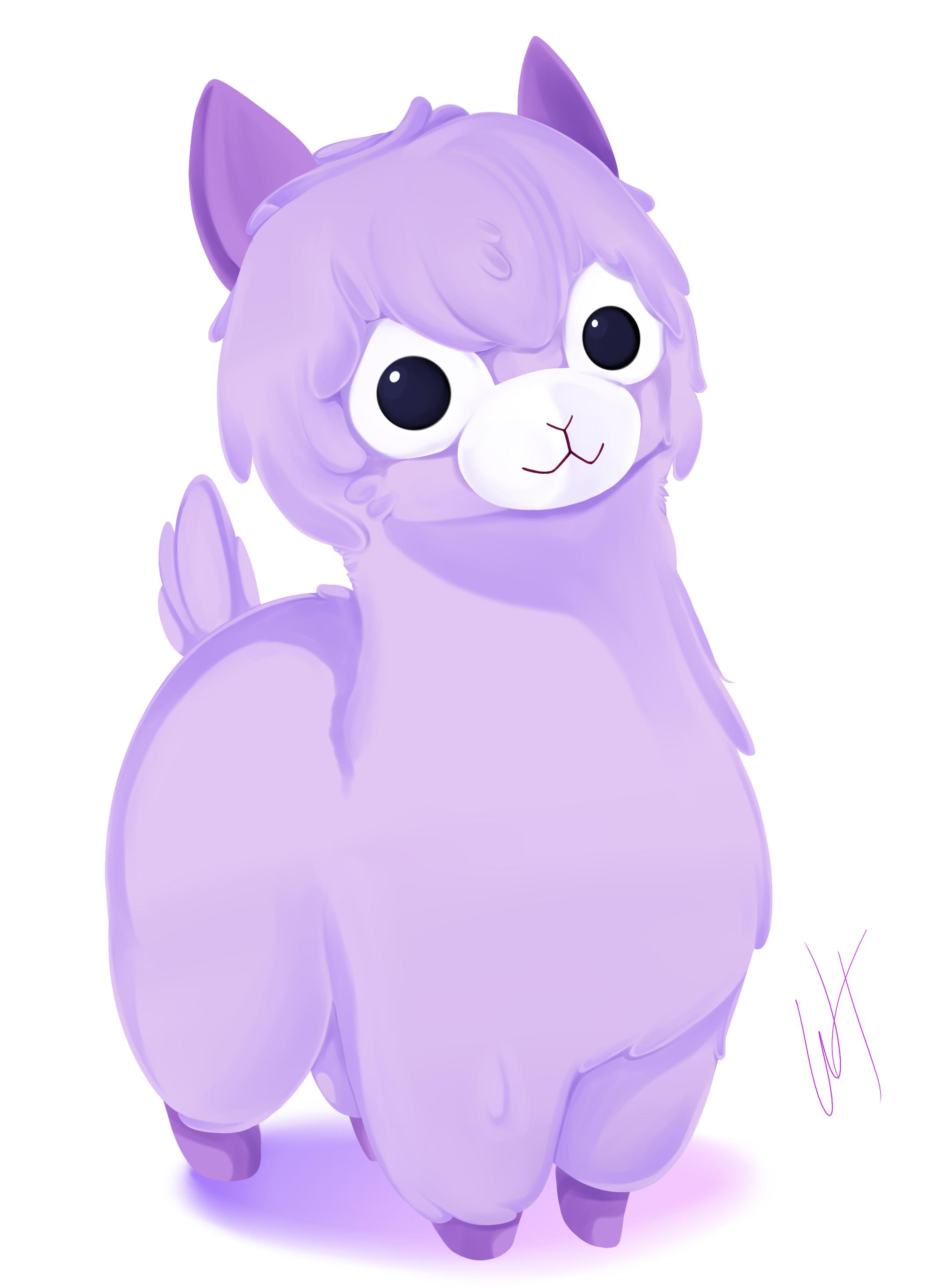 Alpaca clipart cute anime. Arpakasso draw buscar con