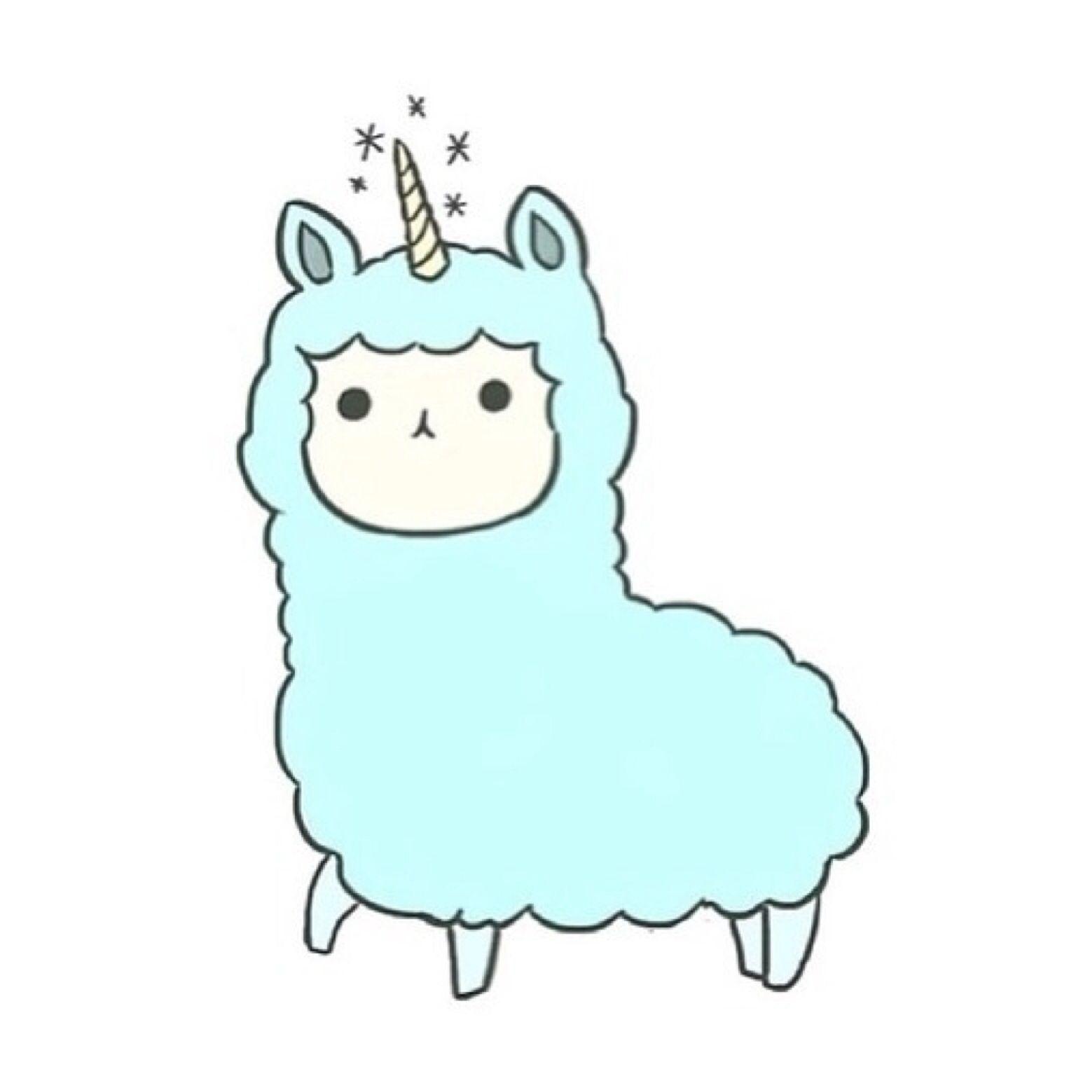 Llamacorn kawaii pinterest unicorns. Alpaca clipart cute anime