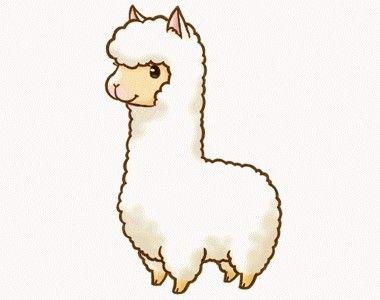 Alpaca clipart cute anime. Stamp summer in kawaii