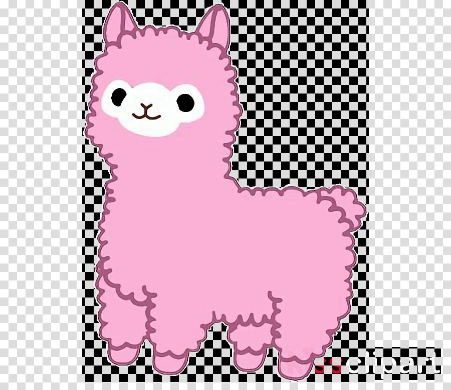 Llama cartoon sticker . Alpaca clipart drawing