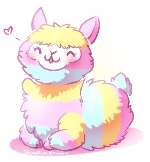 Alpaca clipart fluffy. Rainbow fluff by shinepawart