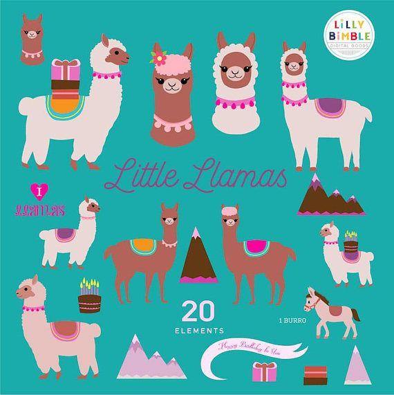 Llama cute llamas clip. Alpaca clipart fluffy