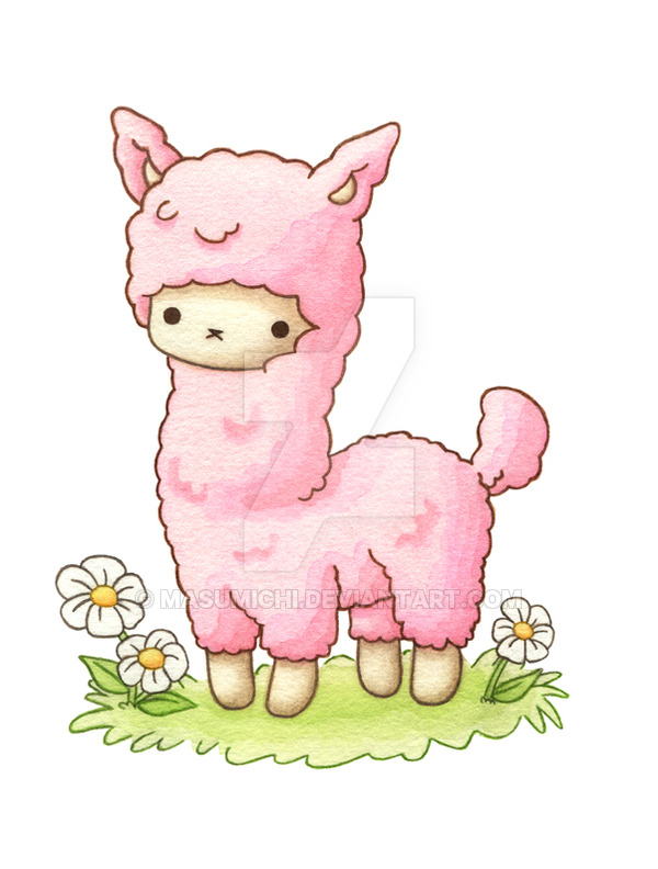 Alpaca clipart fluffy. Candy the by masumichi
