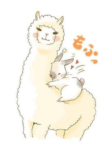 Drawing animals pinterest alpacas. Alpaca clipart fluffy