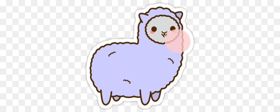Alpacas sticker . Kawaii clipart alpaca