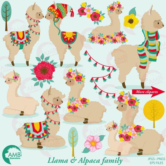 Llama clip art for. Alpaca clipart party