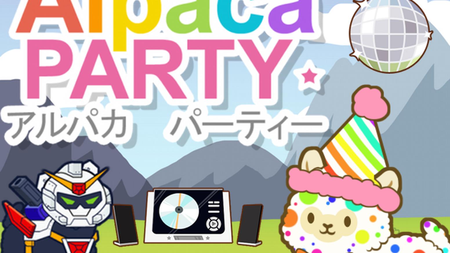 Alpaca clipart party. By meowpuff games kickstarter