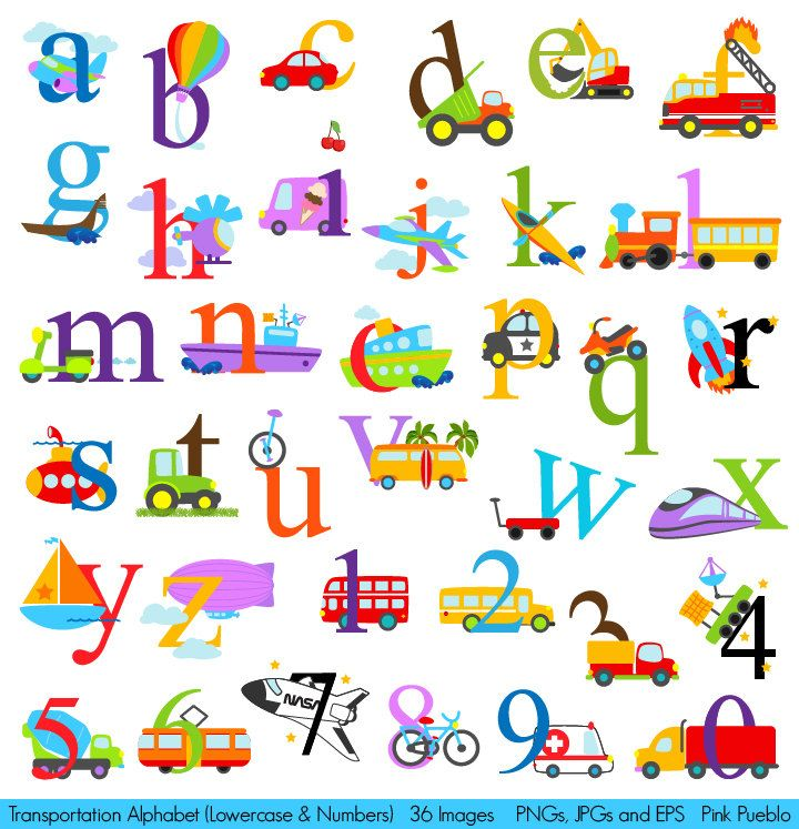 Alphabet clipart. Transportation transporation clip art