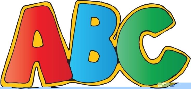 Clip art letters all. Alphabet clipart