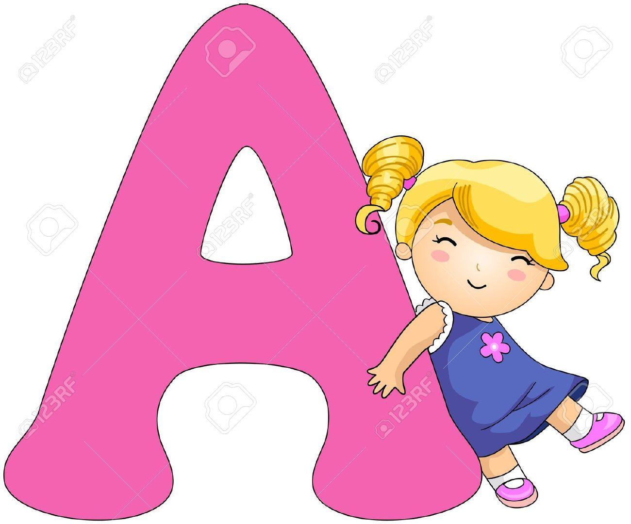 Cartoon letters clip art. Alphabet clipart animated