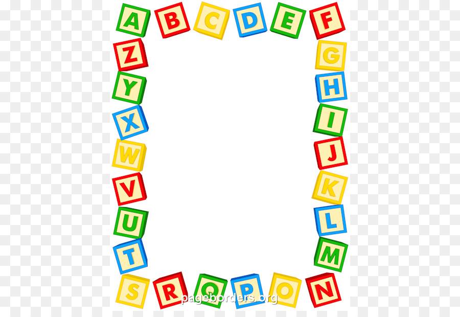 Alphabet clip art border. Letter clipart banner