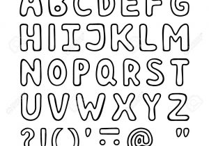 Alphabet clipart black and white. Letters clip art cartoon