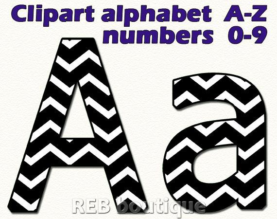 Chevron clip art . Alphabet clipart black and white