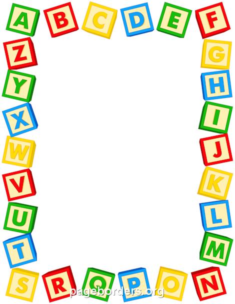 Printable alphabet blocks use. Block clipart border