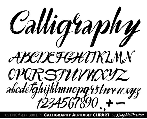 Alphabet clip art . Australia clipart calligraphy